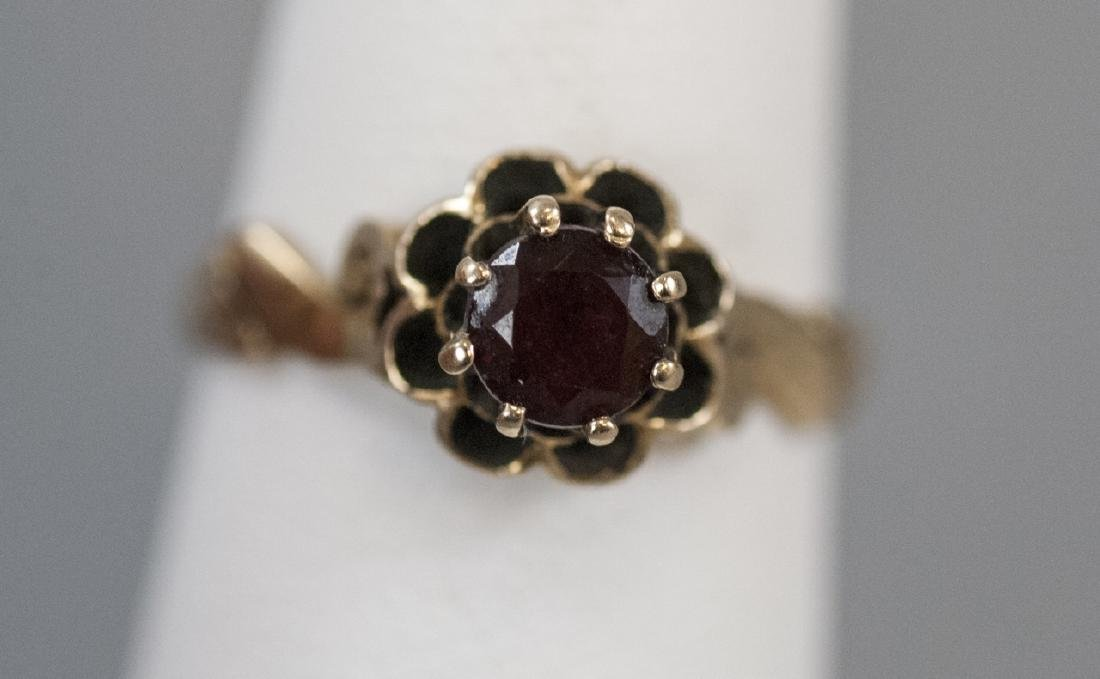 Antique Estate 14kt Yellow Gold Solitaire Ring - 7
