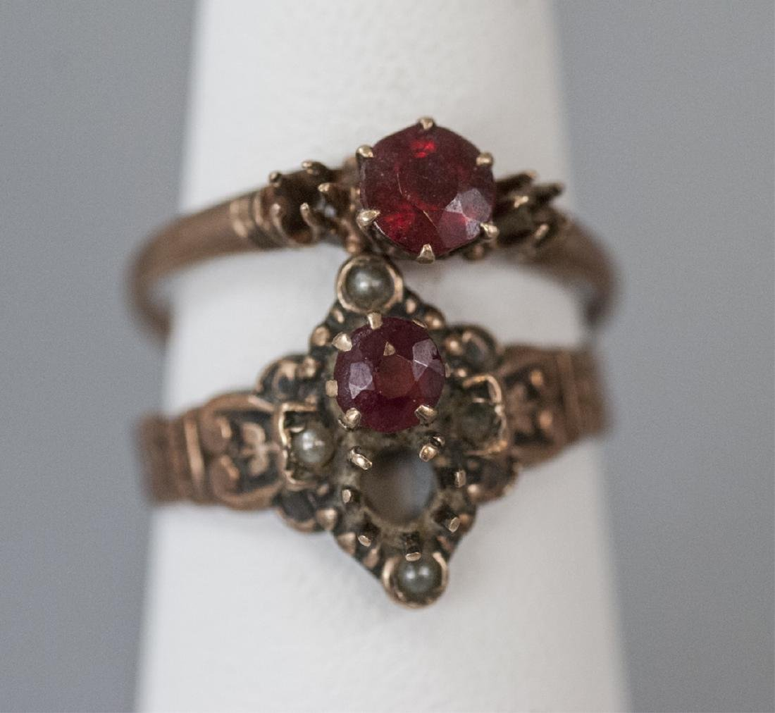 Two Antique / Estate 19th C Gold Rings