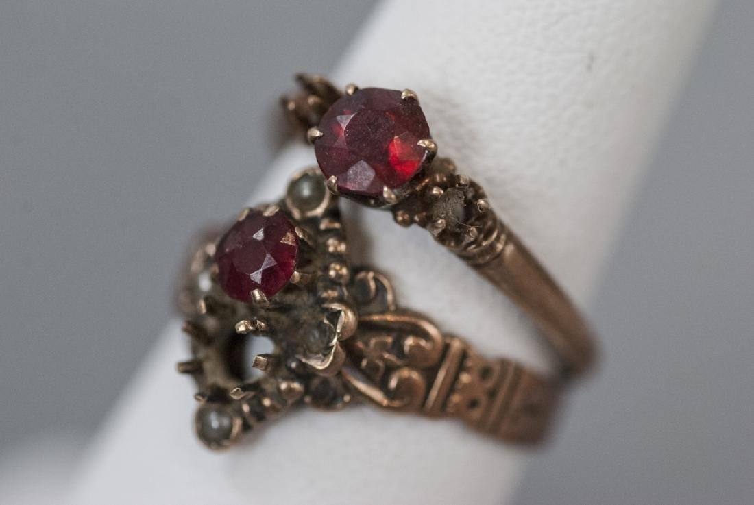 Two Antique / Estate 19th C Gold Rings - 2