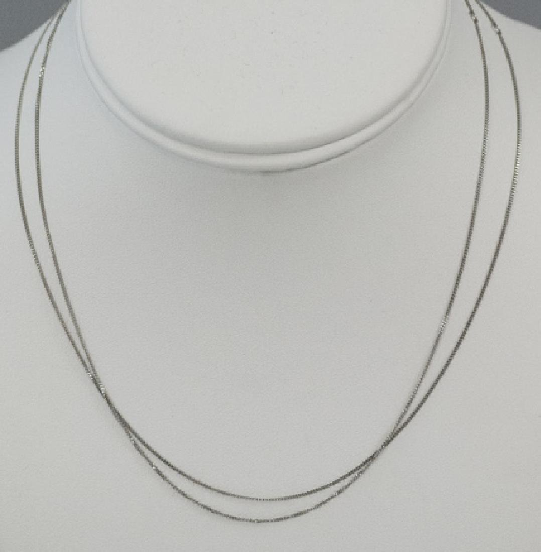 Two Estate Platinum 16 Inch Necklace Chains