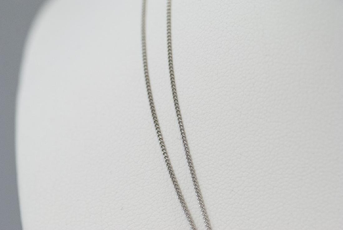 Two Estate Platinum 16 Inch Necklace Chains - 2