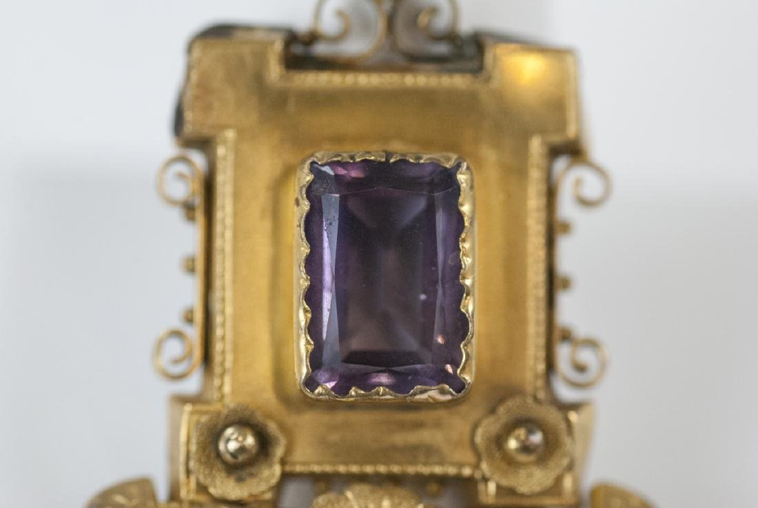 Antique Victorian Yellow Gold & Amethyst Pendant - 3