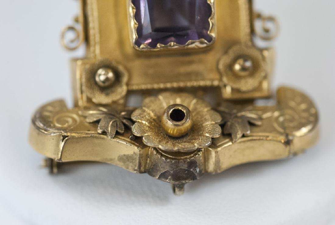 Antique Victorian Yellow Gold & Amethyst Pendant - 4