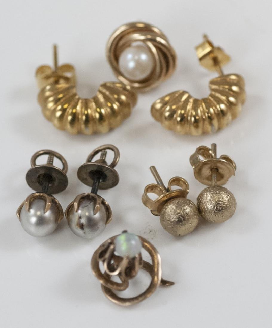Estate Yellow Gold & Gold Filled Earrings / Studs