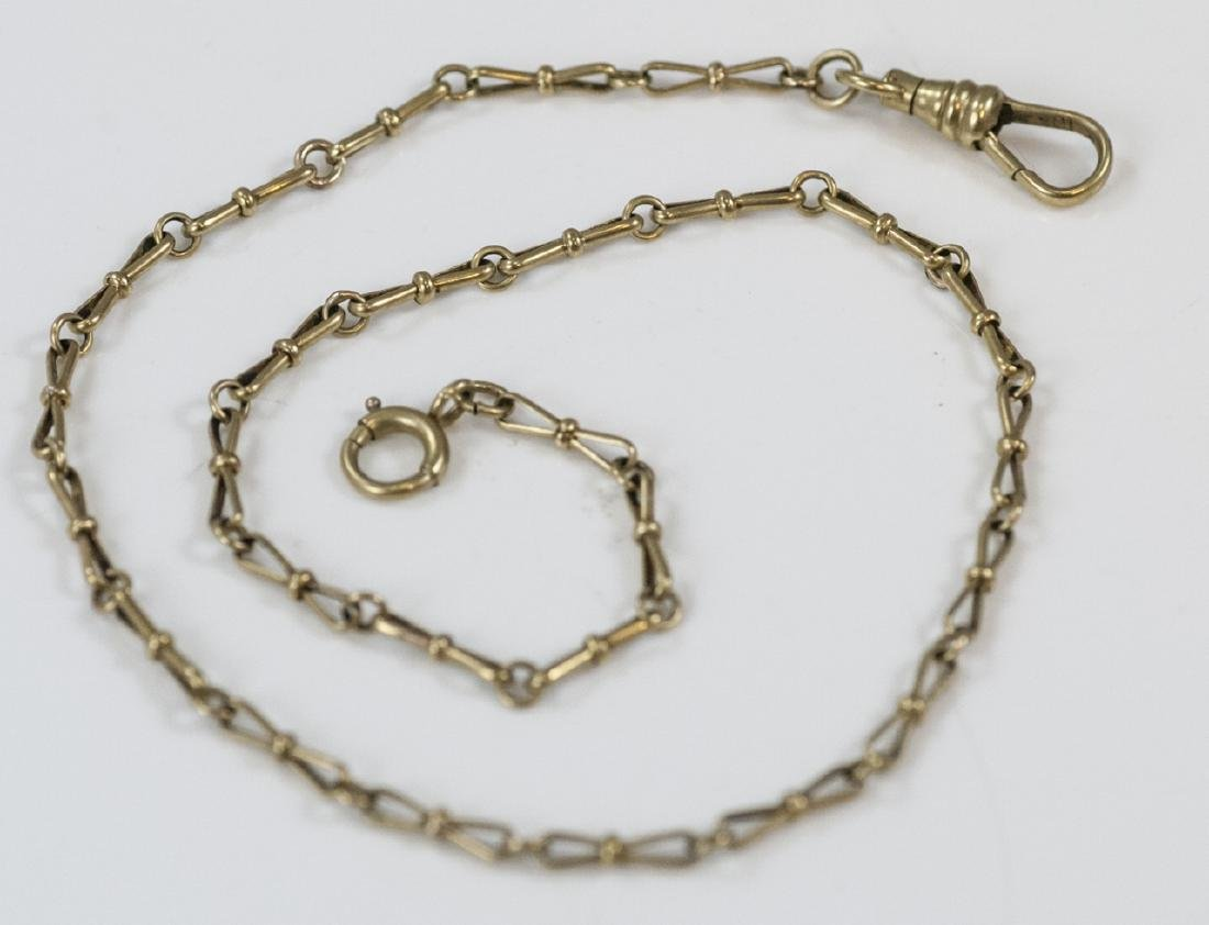 Antique 10kt Yellow Gold Watch Fob Chain