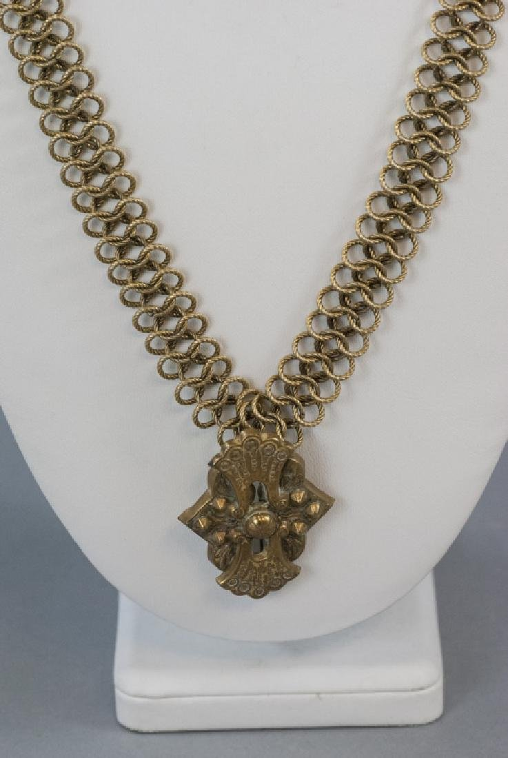 Antique 19th C Victorian Gold Filled Necklace