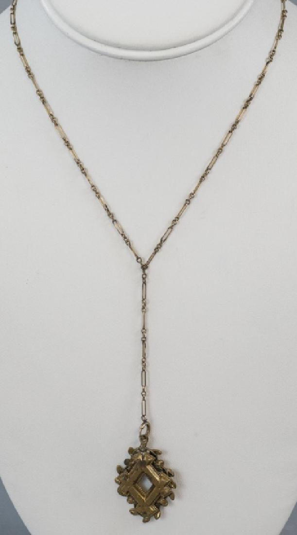 Antique Victorian Gold Filled Necklace & Pendant