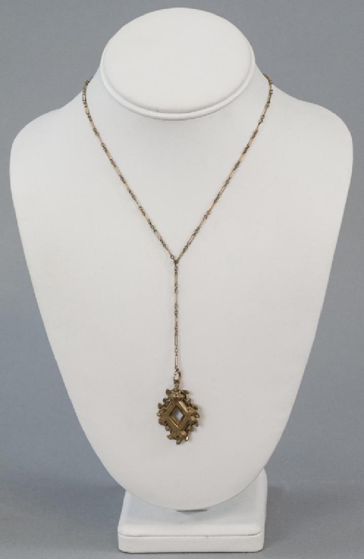 Antique Victorian Gold Filled Necklace & Pendant - 2