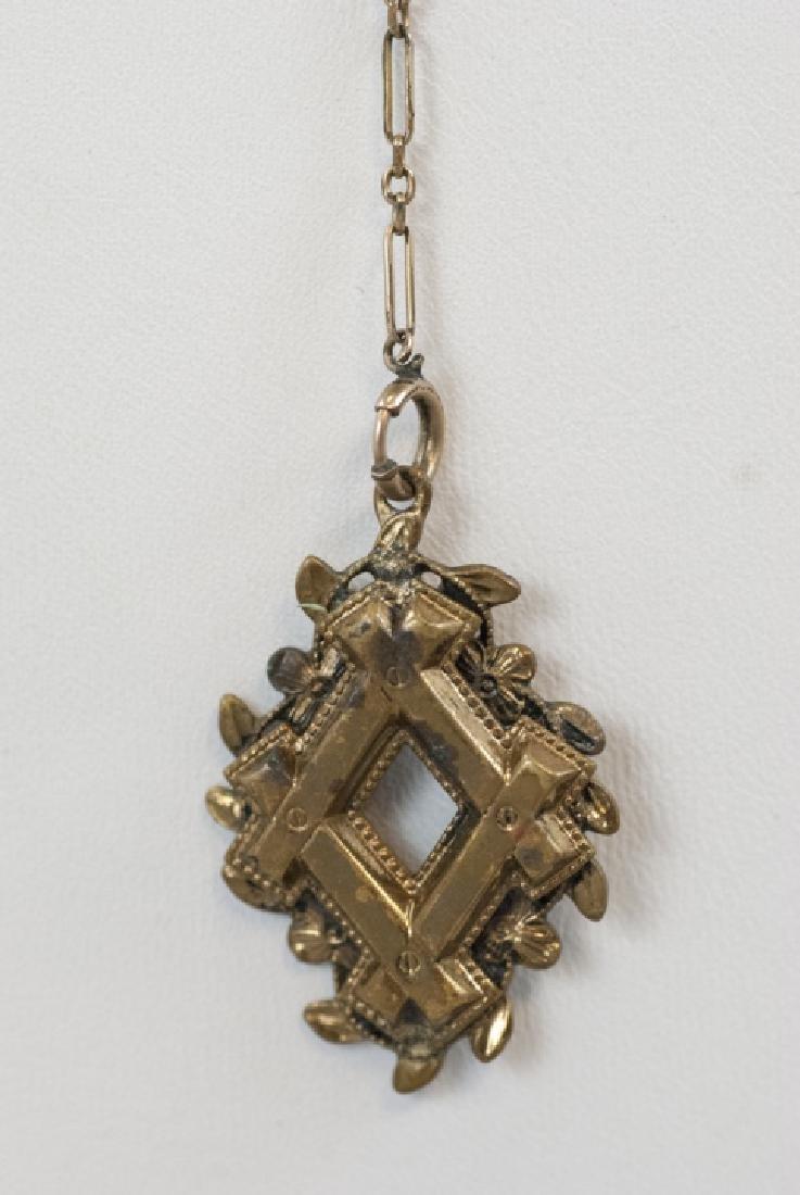 Antique Victorian Gold Filled Necklace & Pendant - 3