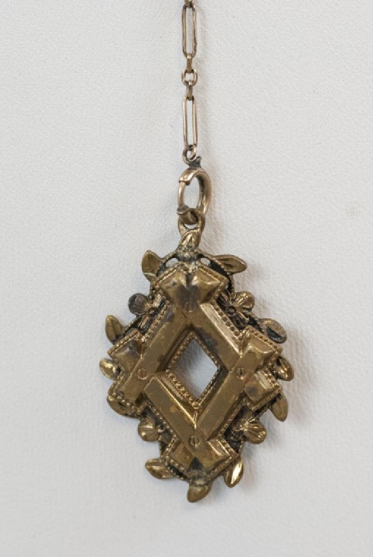 Antique Victorian Gold Filled Necklace & Pendant - 4