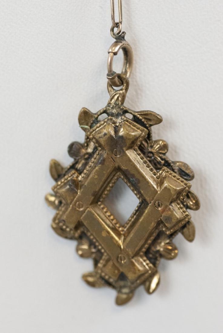 Antique Victorian Gold Filled Necklace & Pendant - 5