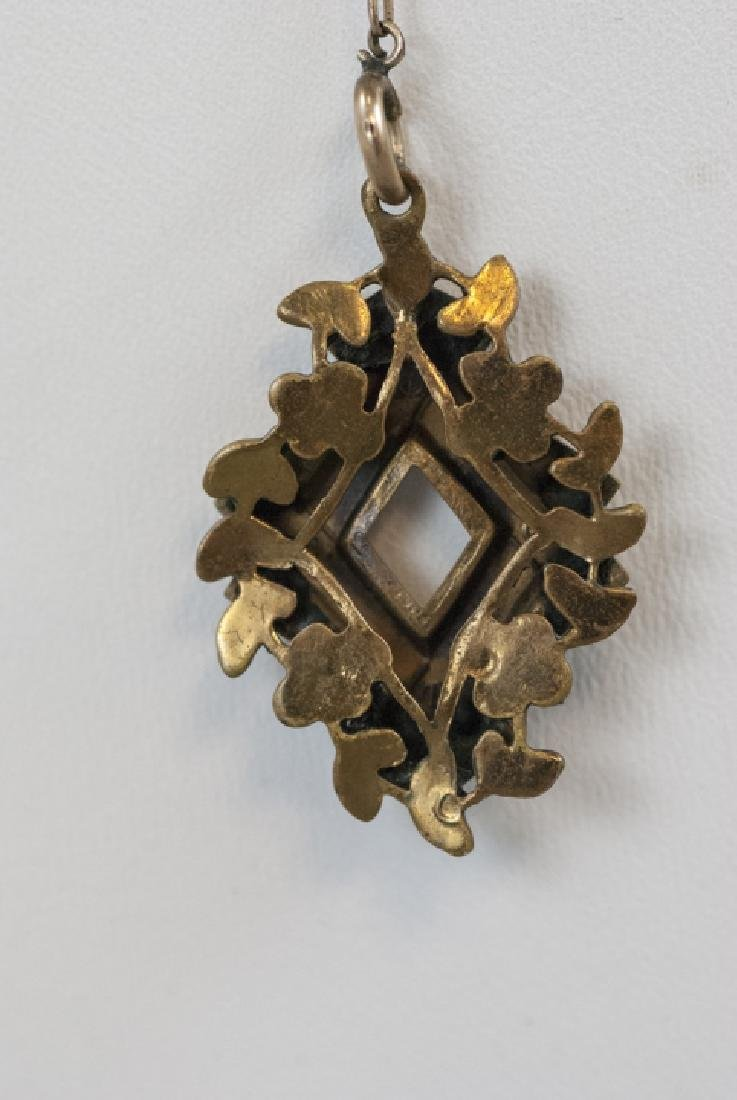 Antique Victorian Gold Filled Necklace & Pendant - 6