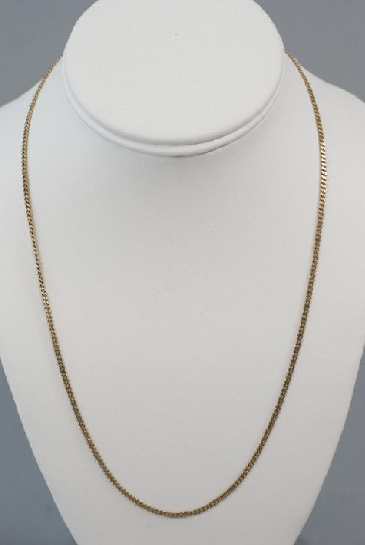 Estate 14kt Yellow Gold Necklace Chain - 2