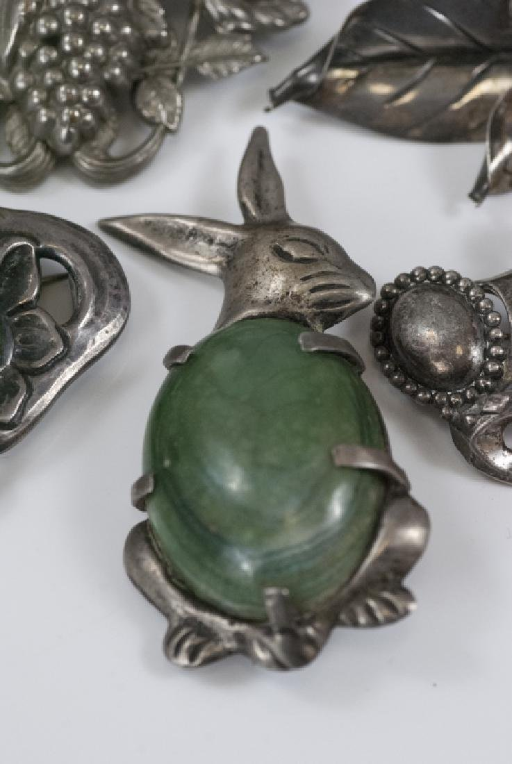 Vintage Sterling & Silver Figural Brooches / Pins - 2