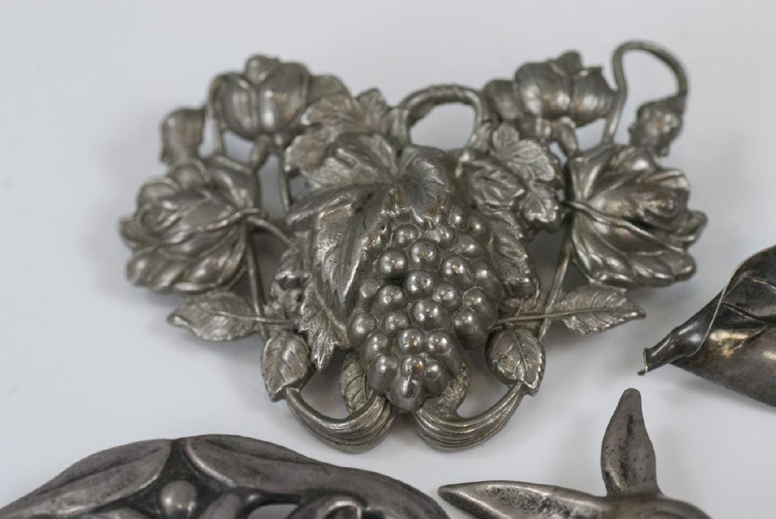 Vintage Sterling & Silver Figural Brooches / Pins - 7