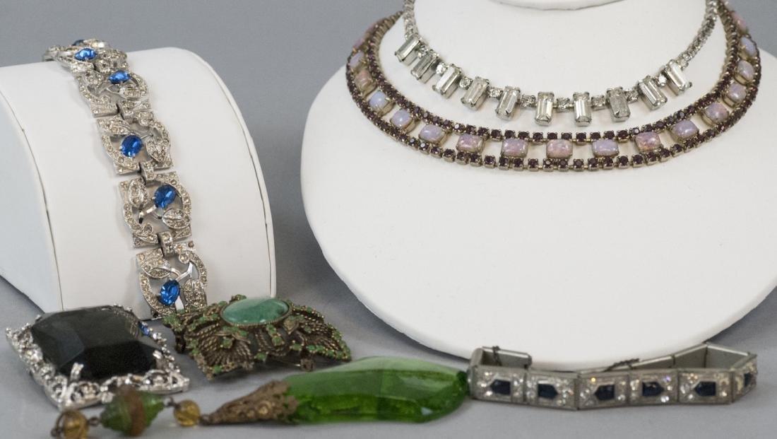 Group of Vintage Rhinestone Costume Jewelry