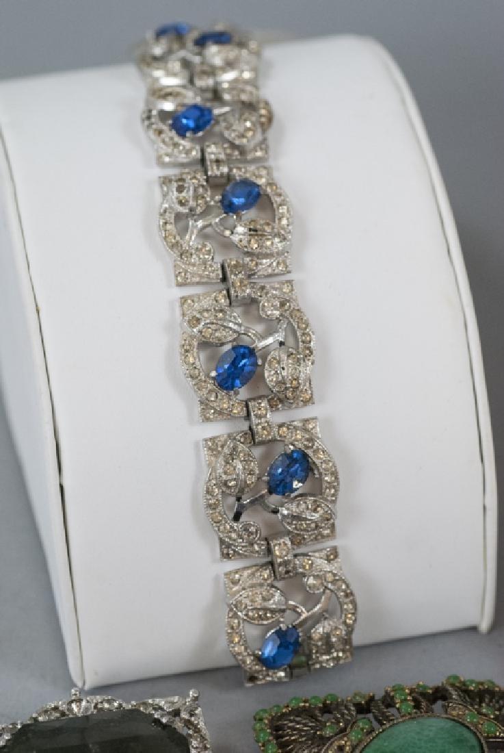 Group of Vintage Rhinestone Costume Jewelry - 3