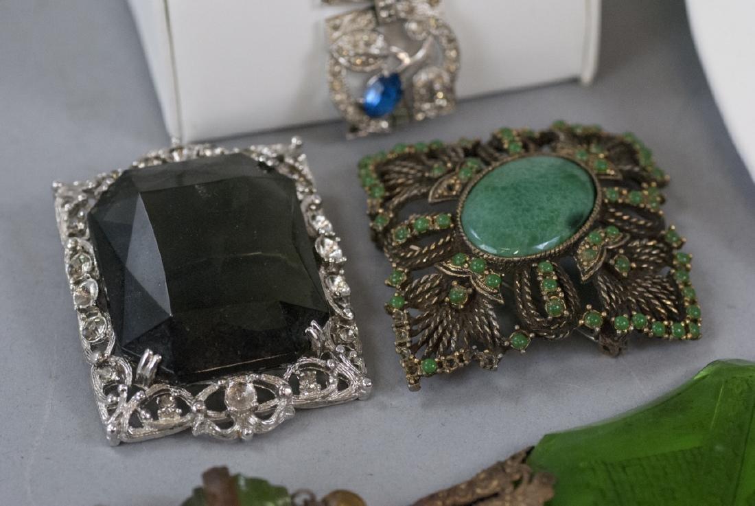 Group of Vintage Rhinestone Costume Jewelry - 4
