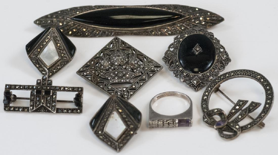 Antique & Vintage Sterling & Marcasite Jewelry