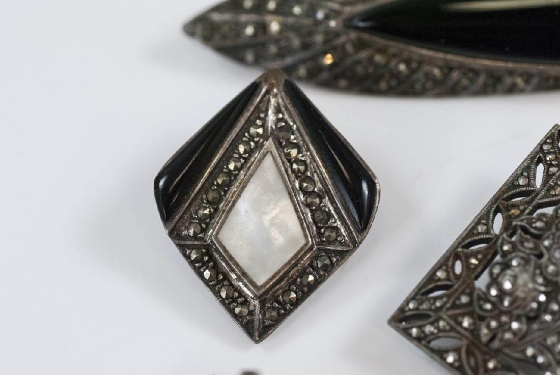 Antique & Vintage Sterling & Marcasite Jewelry - 6