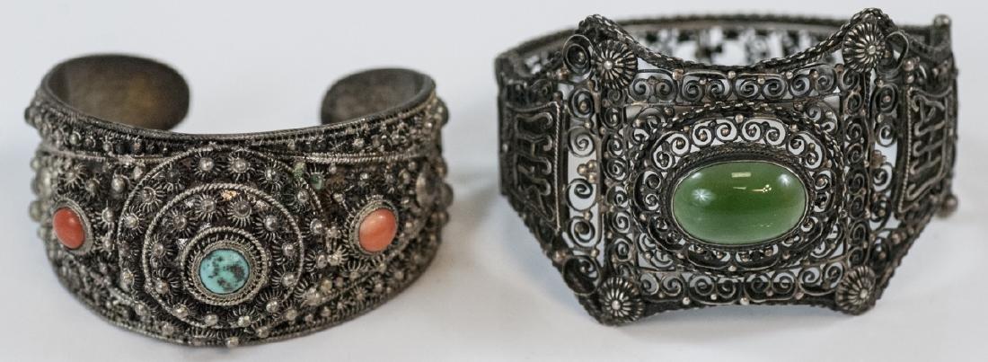 Two Vintage Silver Bracelets - China & Tibetan