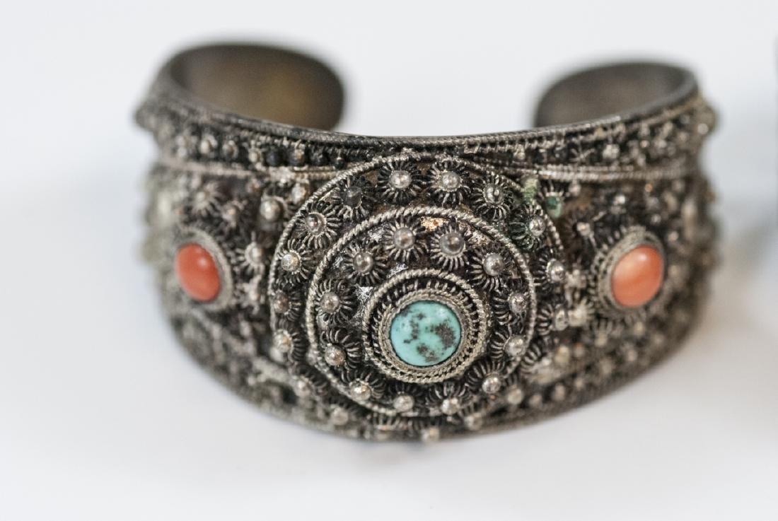 Two Vintage Silver Bracelets - China & Tibetan - 2