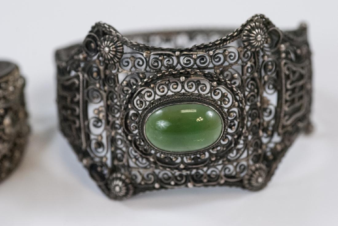 Two Vintage Silver Bracelets - China & Tibetan - 3