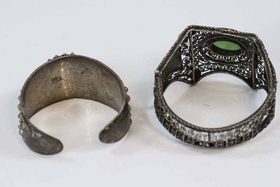 Two Vintage Silver Bracelets - China & Tibetan - 4