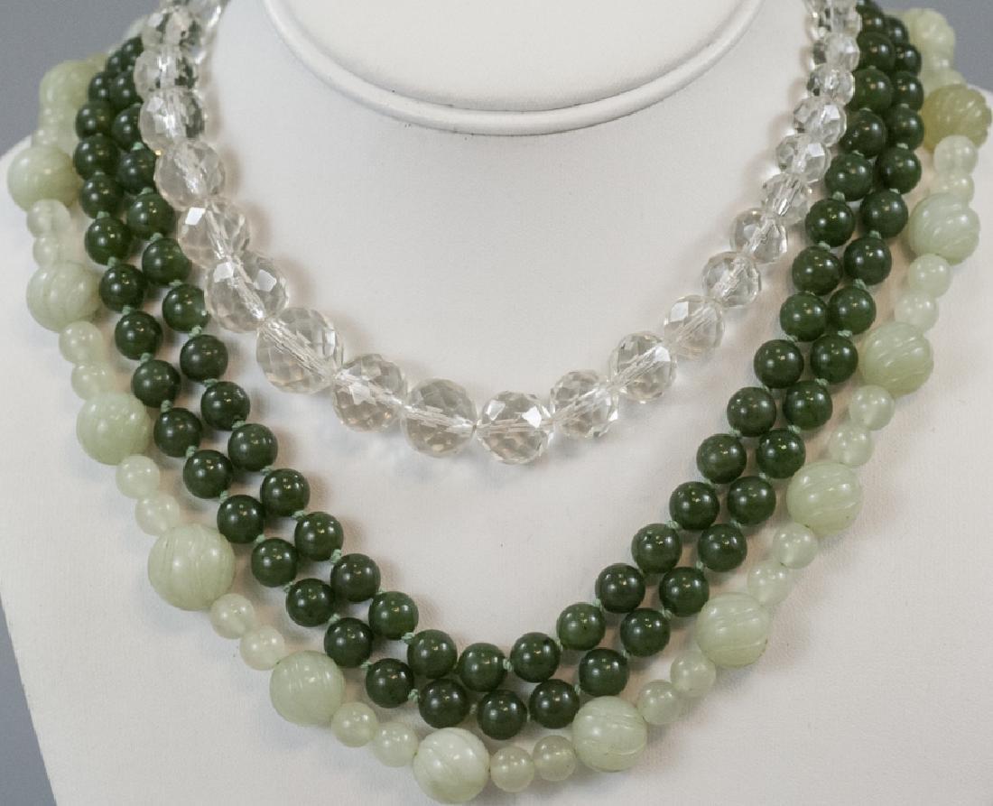 Estate / Antique Rock Crystal & Jade Beads