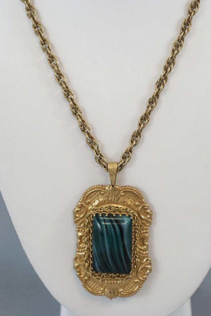 Vintage Miriam Haskell Large Necklace Pendant