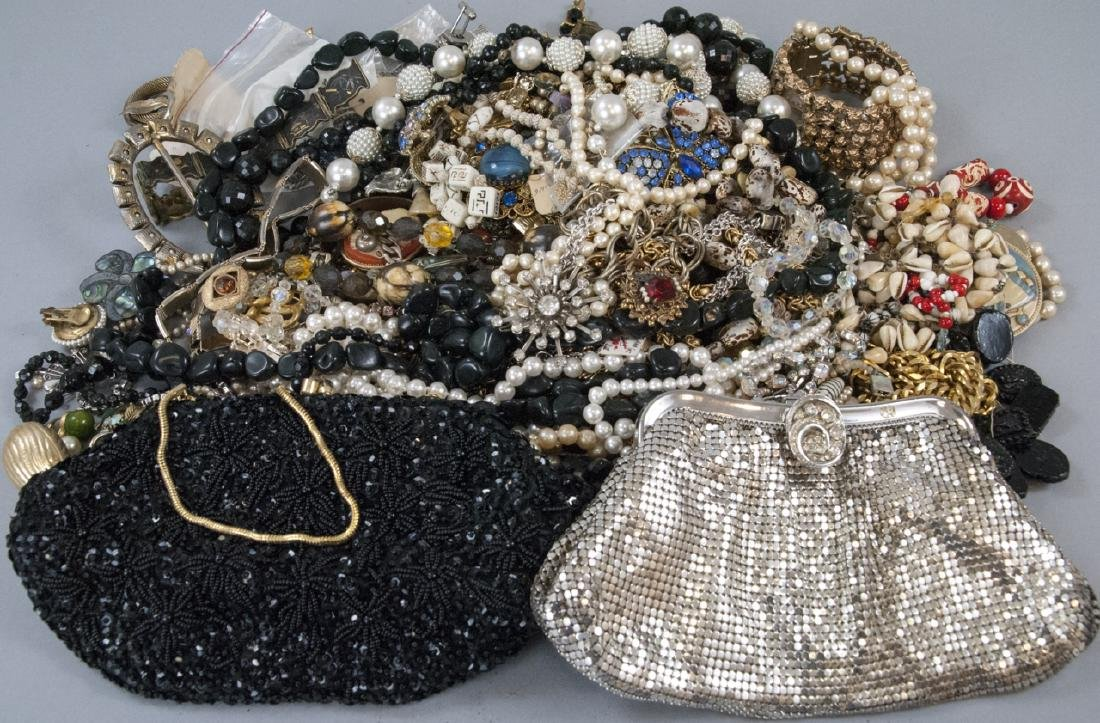 Collection of Vintage Purses & Costume Jewelry