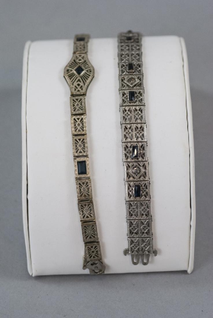 Antique Art Deco Sterling & Gold Filled Bracelets