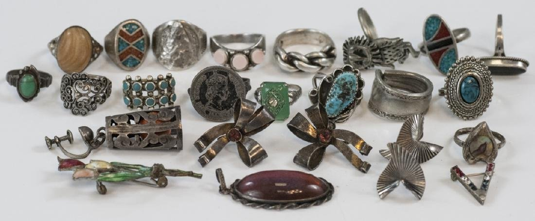 Collection Vintage Sterling & Silver Jewelry Items