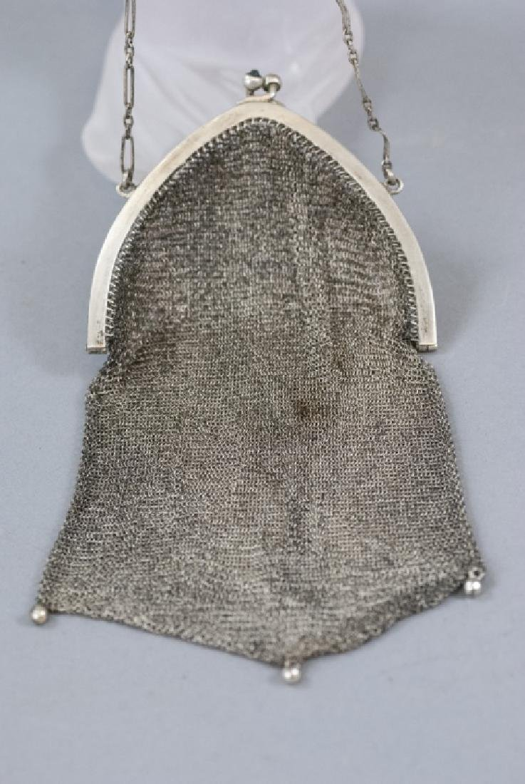 Antique Sterling Silver Mesh Ladies Purse