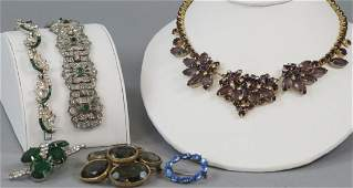 Vintage Rhinestone & Paste Costume Jewelry