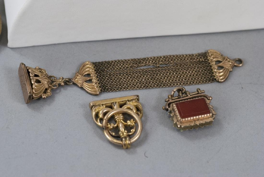 Antique Victorian Gold Filled & Mourning Jewelry - 2