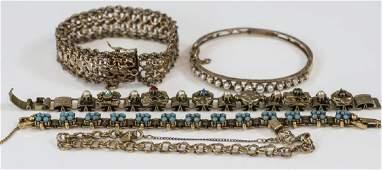 Estate  Vintage Gold Filled  Gold Tone Bracelets