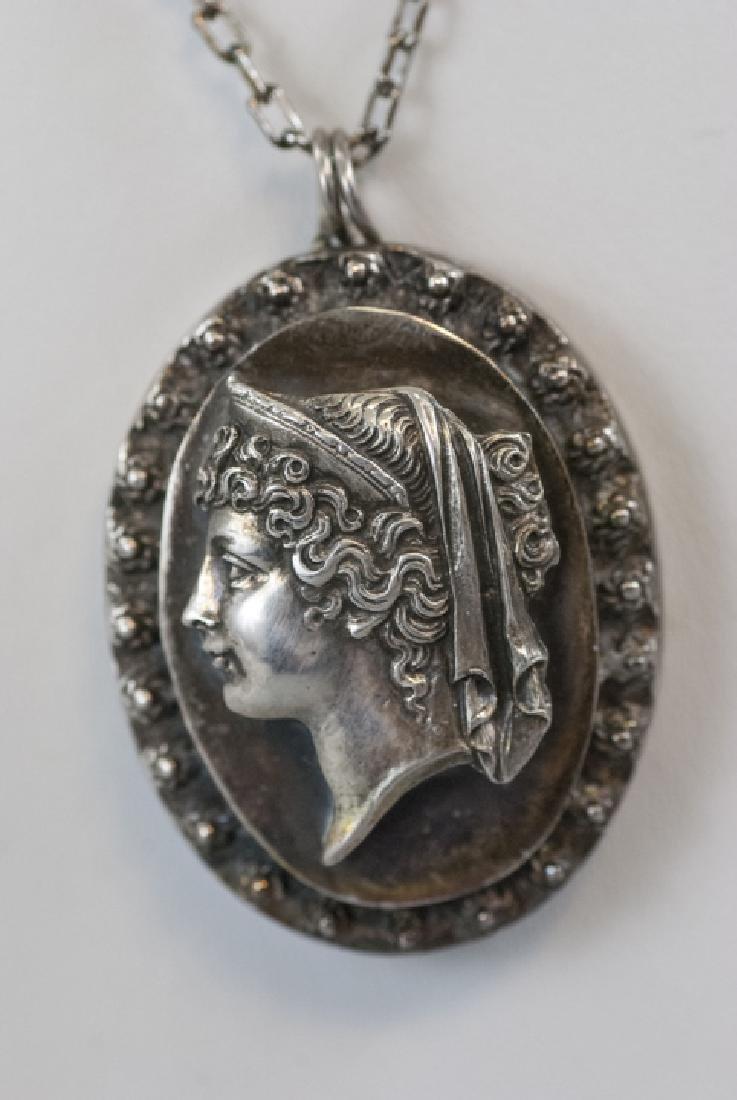Antique Henryk Winograd 999 Silver Necklace