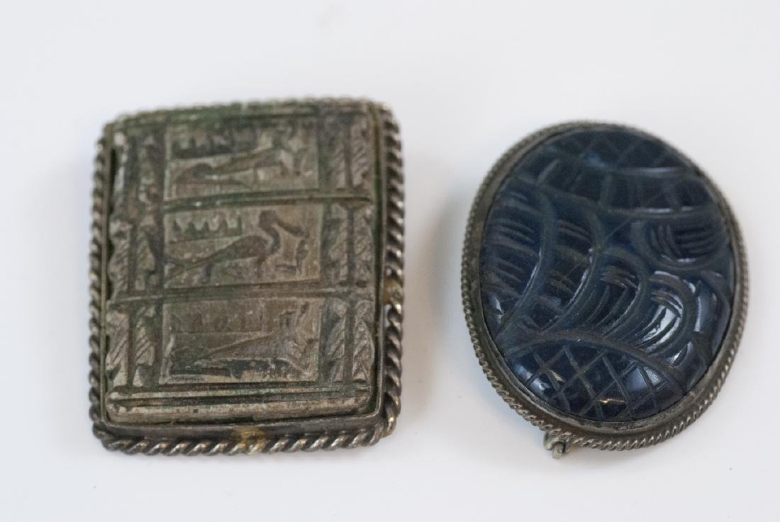 Antique Egyptian Revival & Chinese Brooches