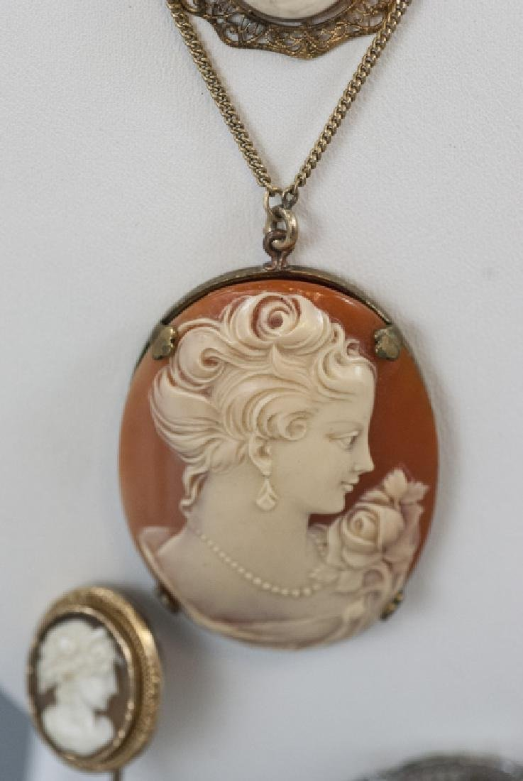 Collection of Five Vintage & Antique Cameos - 3