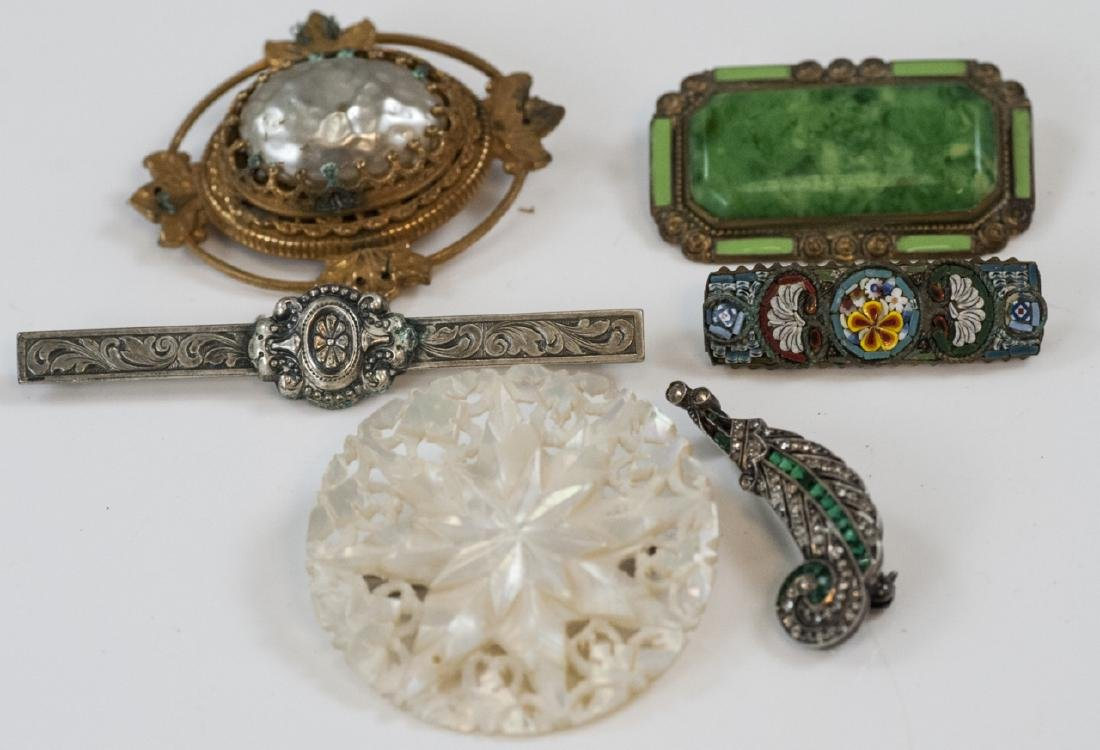 Antique & Vintage Brooches w Miriam Haskell