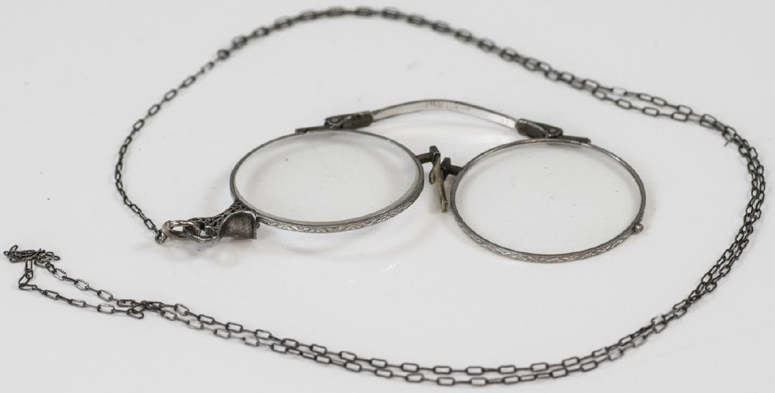 Antique Sterling Silver Eye Glasses on Chain