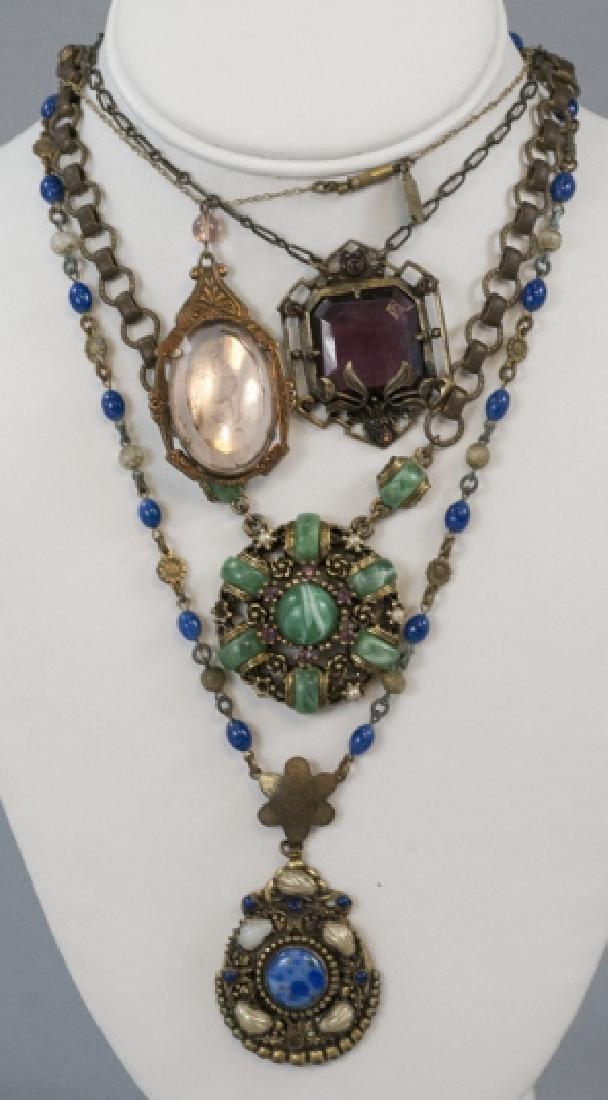 Four Antique & Vintage Necklaces