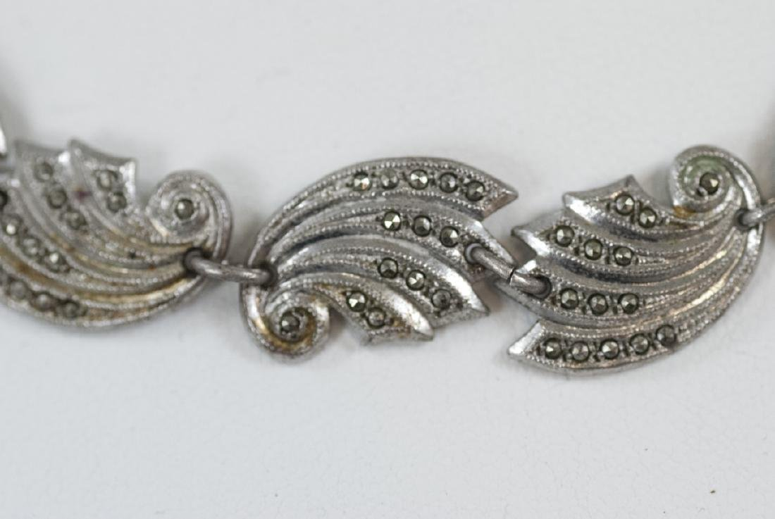 Vintage Sterling Silver & Marcasite Jewelry Suite - 3