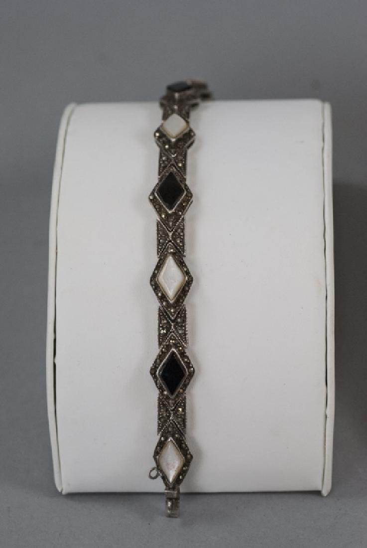 Vintage Sterling Silver & Marcasite Jewelry Suite - 4