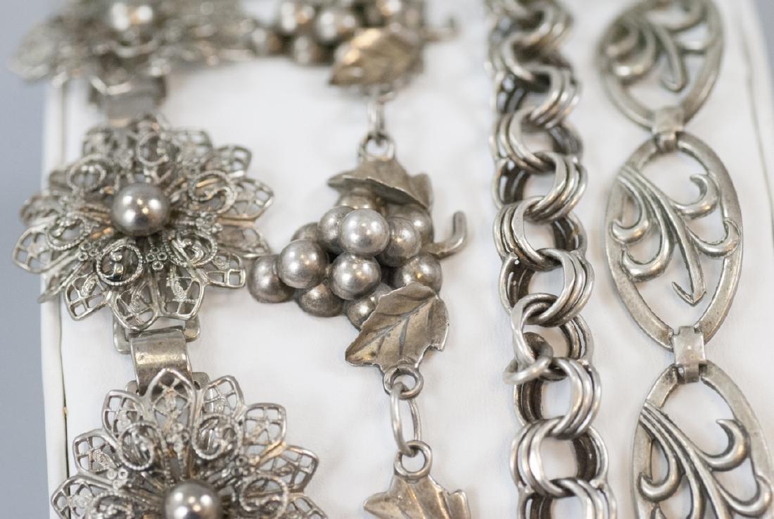 Four Vintage Sterling & Silver Tone Bracelets - 2