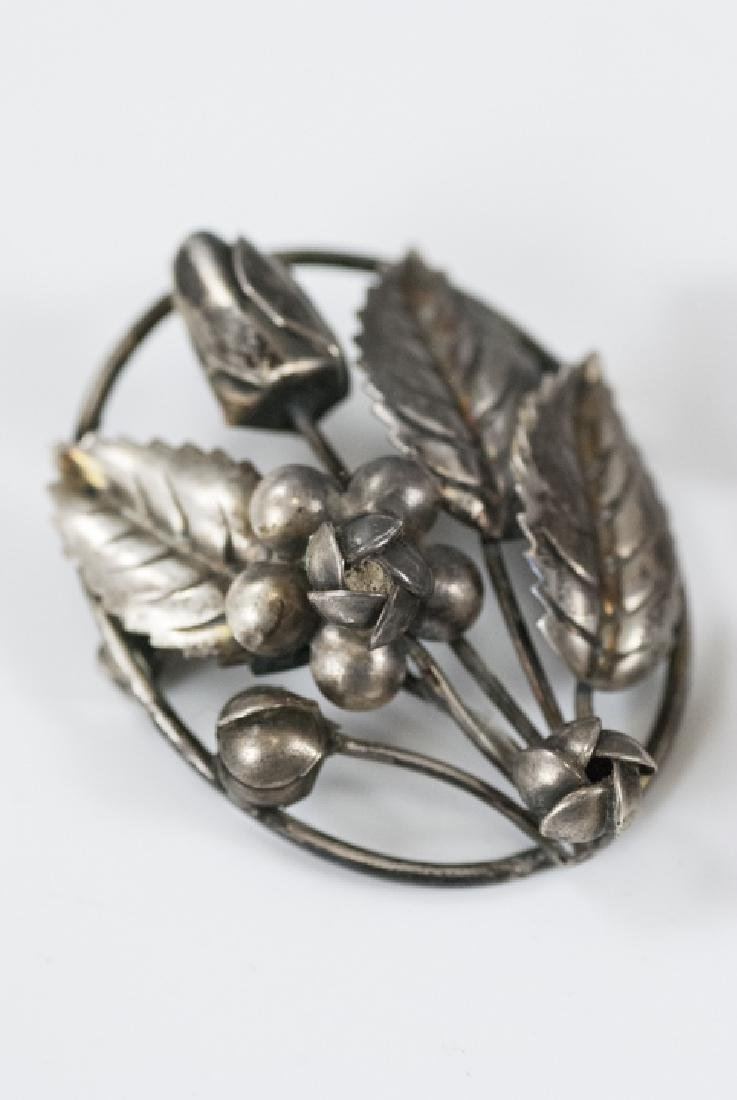 Three Vintage Figural Sterling Silver Brooches - 2