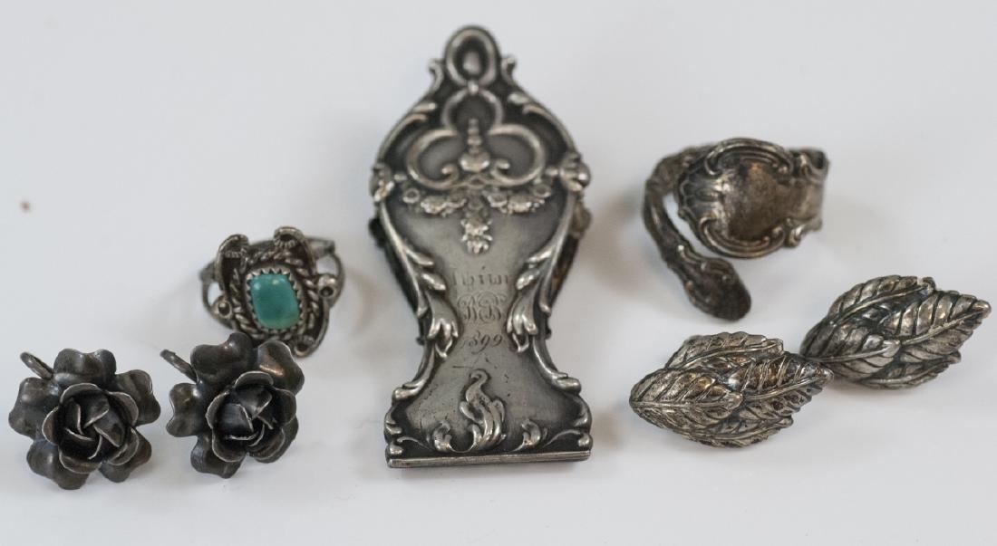 Assorted Antique & Vintage Sterling & Silver