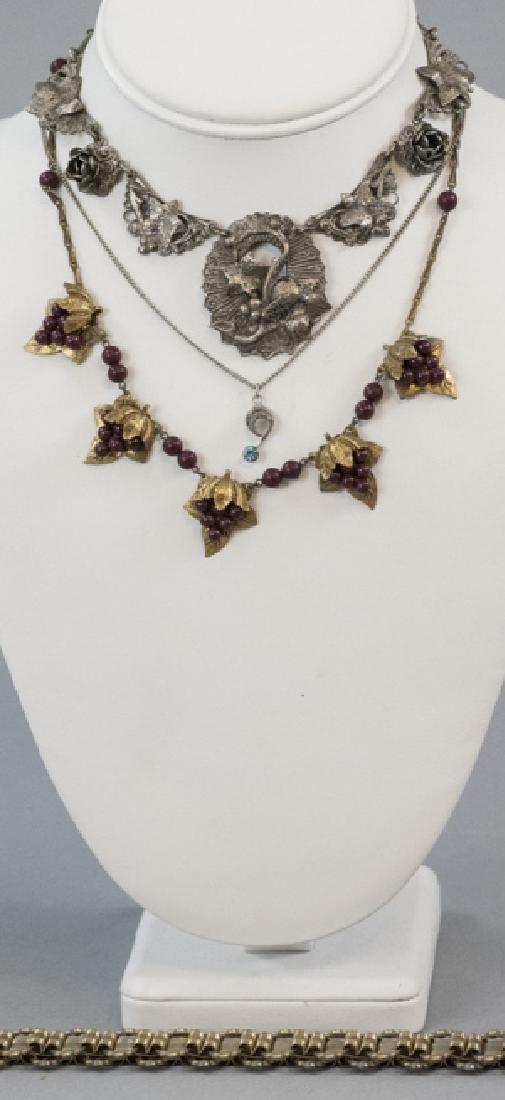 Four Antique & Vintage Costume Jewelry Necklaces