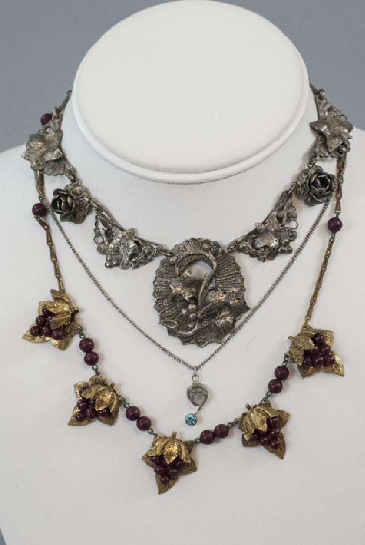 Four Antique & Vintage Costume Jewelry Necklaces - 5